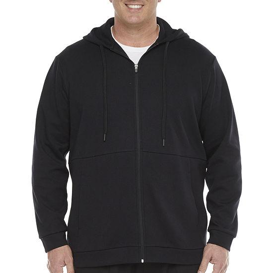 Stylus Big & Tall Mens Full Zip Long Sleeve Fleece Hoodie