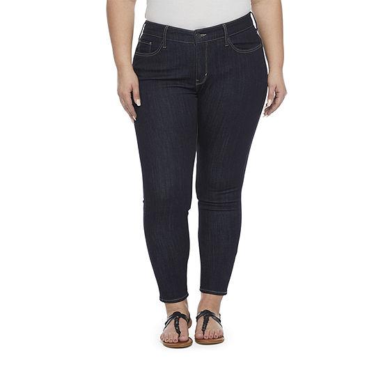 a.n.a - Plus Womens Mid Rise Skinny Jean