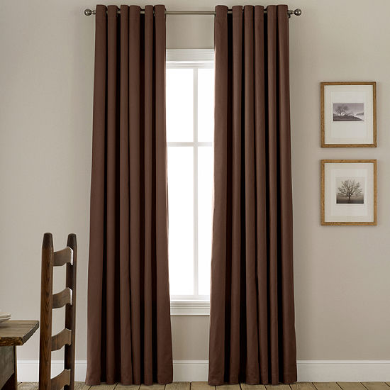 JCPenney Home Energy Saving Grommet-Top Single Curtain Panel