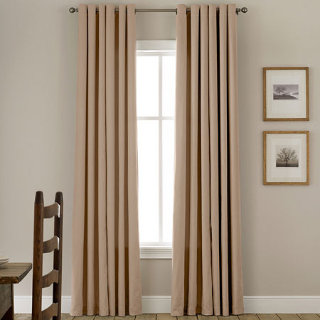JCPenney Home Energy Saving Grommet-Top Single Curtain Panel, One Size , Beige