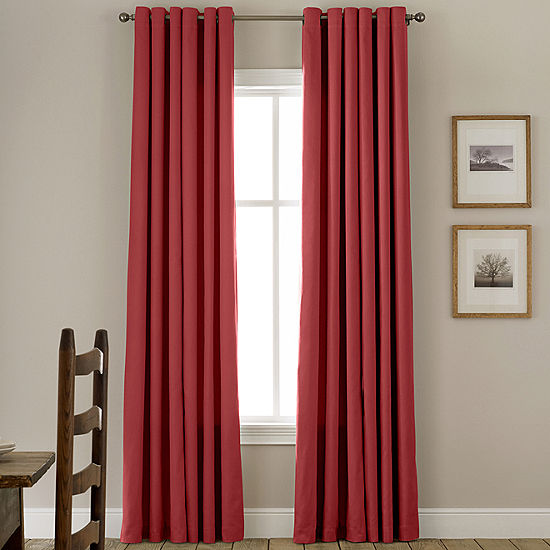 JCPenney Home Jenner Cotton Grommet Top Thermal Curtain