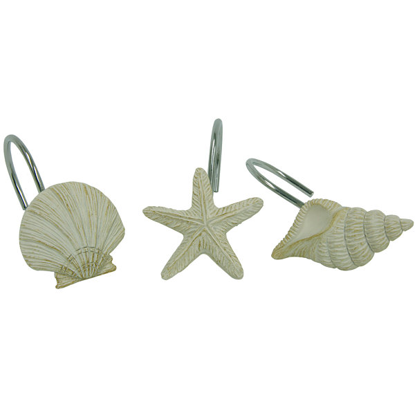 Bacova Coastal Moonlight Shower Curtain Hooks