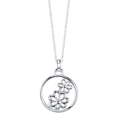 Crystal Sophistication™ Sterling Silver Flower Daughter Pendant