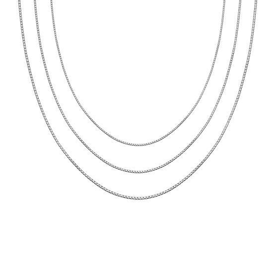 "Sterling Silver 16-30"" Box Chains"
