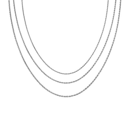 """Sterling Silver 16-30"""" Light Rope Chains"""