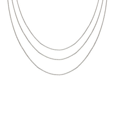 """Sterling Silver 16-30"""" Crystal Chains"""