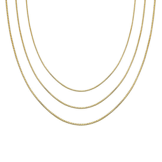 Gold Over Sterling Silver 16 30 Box Chains