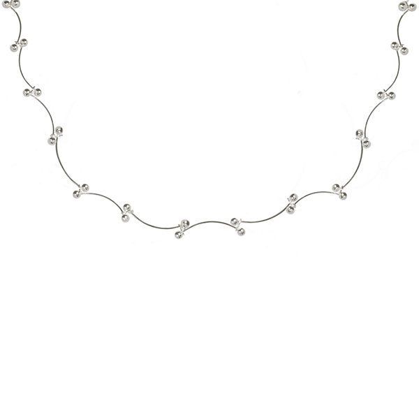 Silver Reflections™ Scallop Bead Sterling Silver Necklace