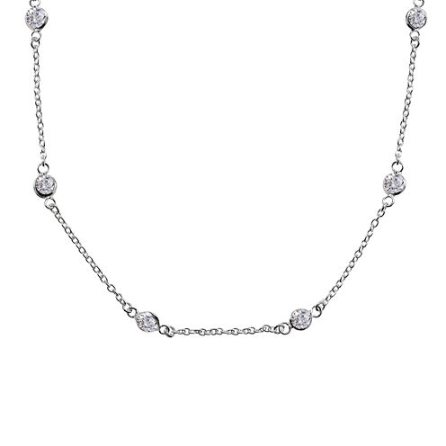 Silver Reflections™ Cubic Zirconia Sterling Silver Necklace