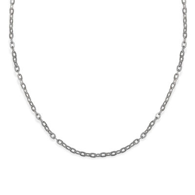 Silver Reflections™ Chain Diamond Cut Oval-Link Chain Necklace