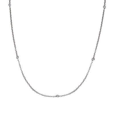 Silver Reflections™ Cubic Zirconia Stainless Steel Necklace