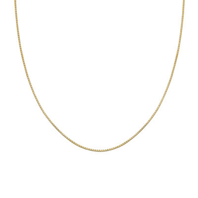 Silver Reflections™ Gold Over Sterling Silver Box Chain Necklace