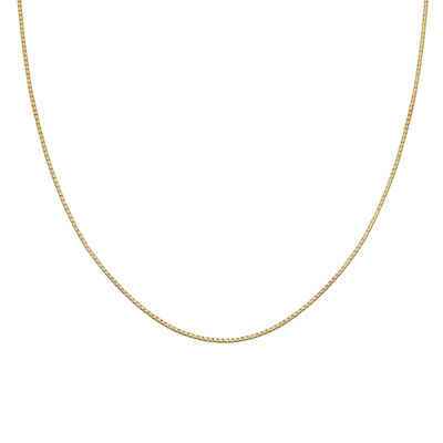 "Gold Over Sterling Silver 18"" 015 Gauge Box Chain"