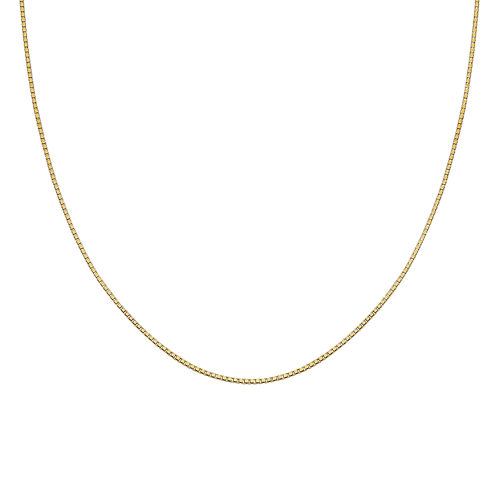 """Gold Over Sterling Silver 18"""" 015 Gauge Box Chain"""
