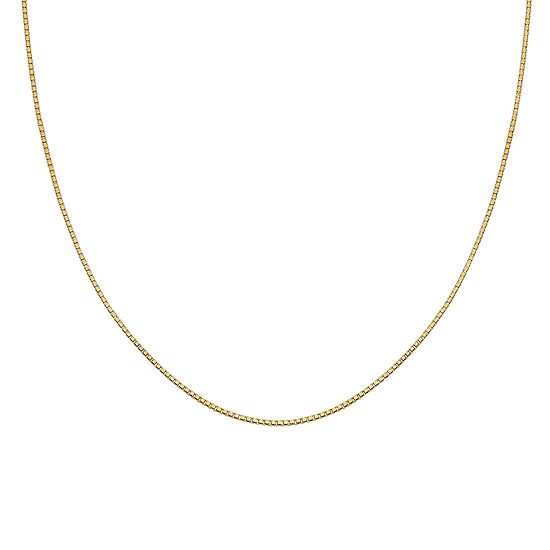 """Gold Over Sterling Silver 24"""" Box Chain"""