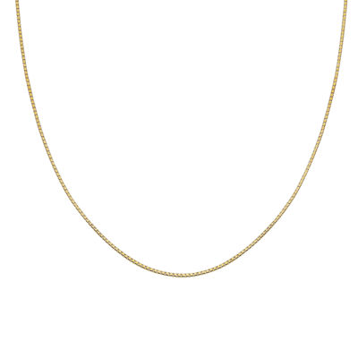 """Gold Over Sterling Silver 30"""" Box Chain"""