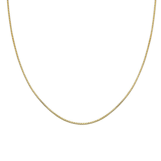 "Gold Over Sterling Silver 30"" Box Chain"