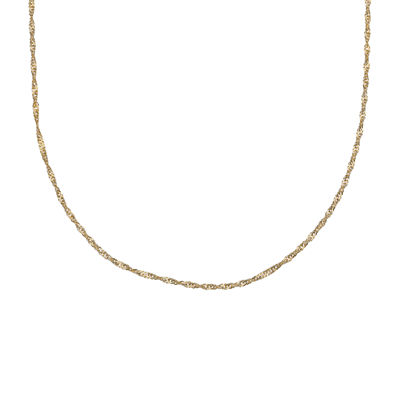 "Gold Over Sterling Silver 20"" Singapore Chain"