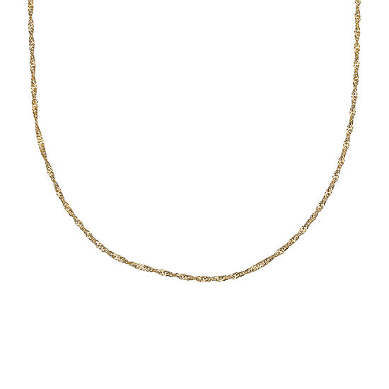 """Gold Over Sterling Silver 24"""" Sing Chain"""