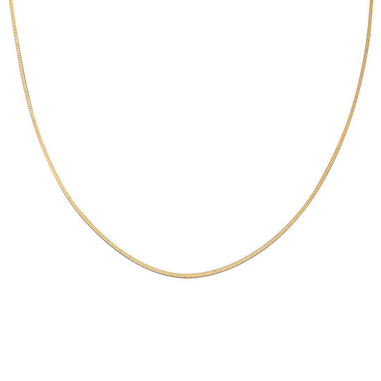 "Gold Over Sterling Silver 18"" Square Snake Chain"