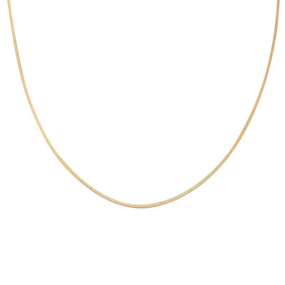 "Gold Over Sterling Silver 24"" Square Snake Chain"
