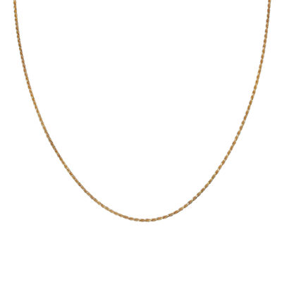 "Gold Over Sterling Silver 20"" Diamond-Cut Chain"