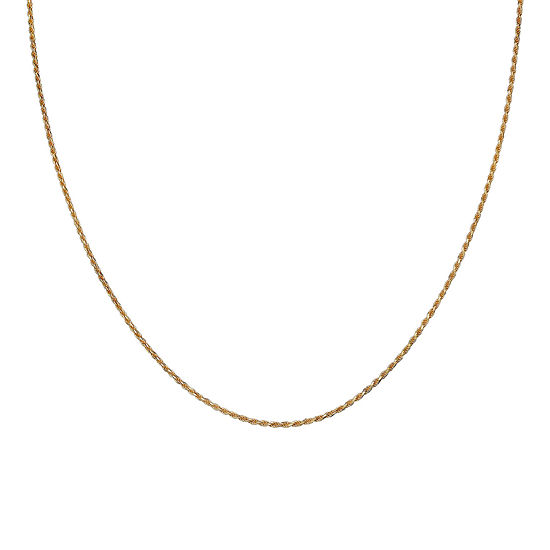 "Gold Over Sterling Silver 20"" Rope Chain"