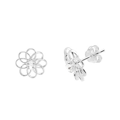 itsy bitsy™ Sterling Silver Crystal Flower Earrings