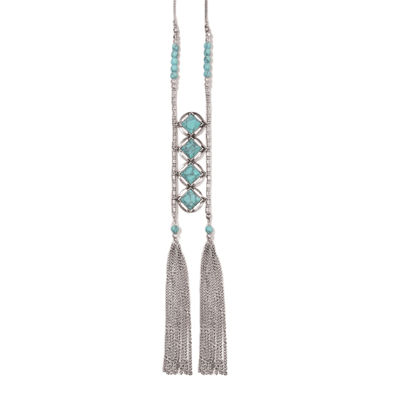 Studio By Carol Dauplaise Double Link Tassel Necklace