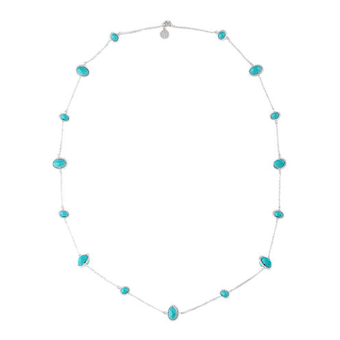 Liz Claiborne® Silver-Tone Blue Stone Long Strand Necklace