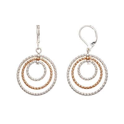 Monet® Two-Tone Orbital Drop Earrings
