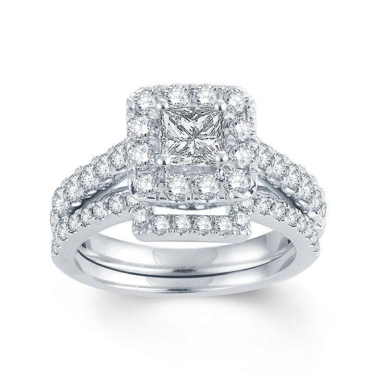 LIMITED QUANTITIES 2 CT. T.W. Diamond 14K White Gold Bridal Set