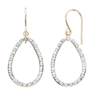Diamond Fascination™ 14K Rose Gold Open Teardrop Earrings