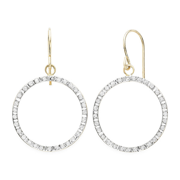 Diamond Fascination™ 14K White Gold Open Teardrop Earrings