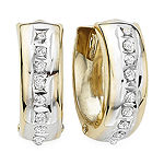 Diamond Fascination™ 14K Gold Hoop Earrings