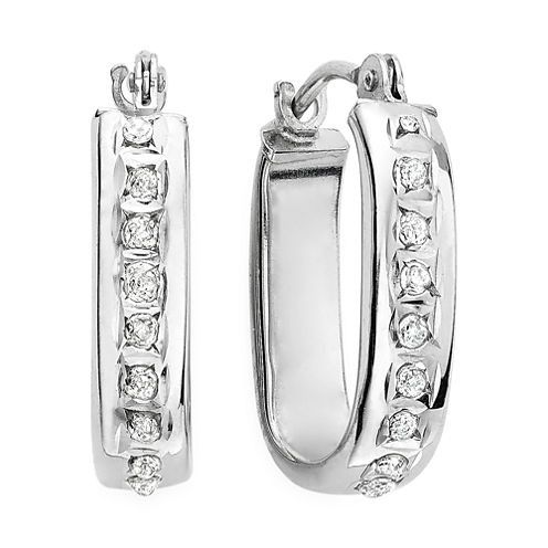 Diamond Fascination™ 14K Gold U-Hoop Earrings