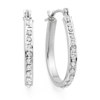 Diamond Fascination™ 14K Gold Diamond Accent Hoop Earrings