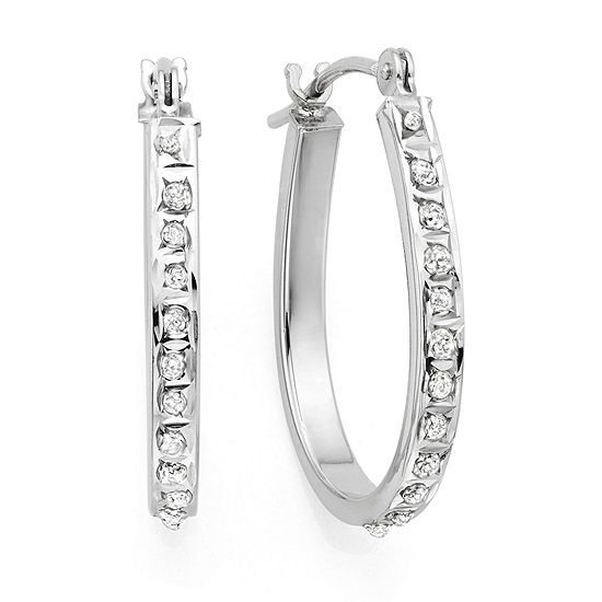 Diamond Fascination 14k Gold Accent Hoop Earrings