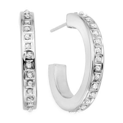 "Diamond Fascination™ 14K Gold Diamond Accent ""C"" Hoop Earrings"