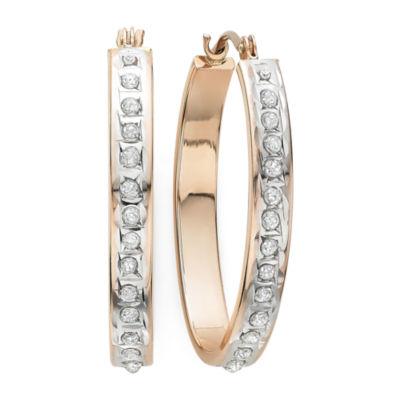 Diamond Fascination™ 14K Rose Gold Diamond Accent Hoop Earrings