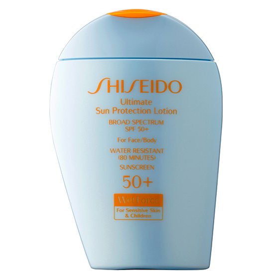Shiseido Ultimate Sun Protection Lotion Broad Spectrum SPF 50+ WetForce for Sensitive Skin & Children