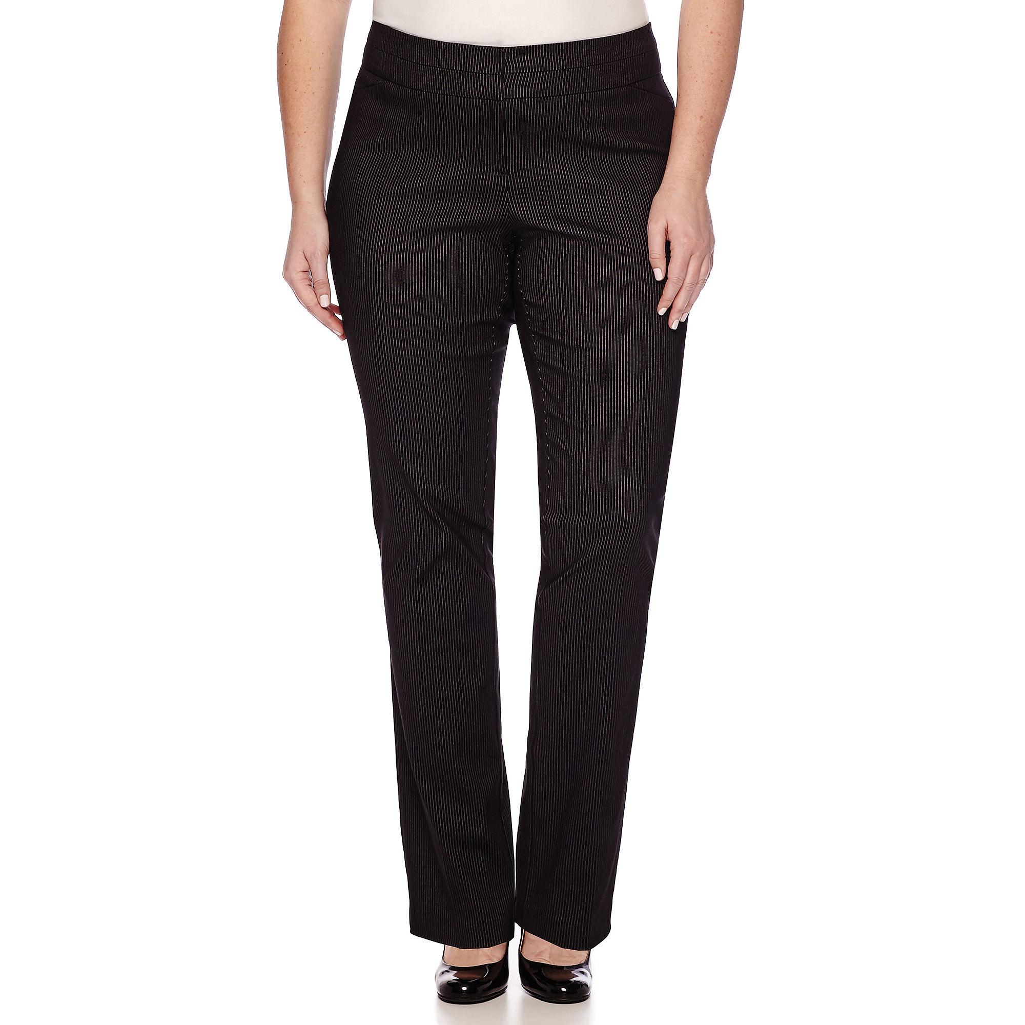 Heart & Soul Double Waist Pinstripe Pants - Juniors Plus Short plus size,  plus size fashion plus size appare