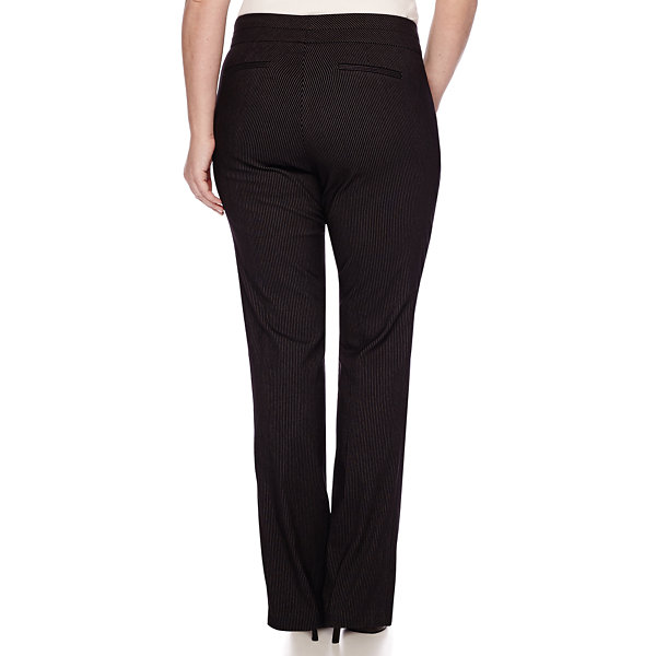 Heart & Soul® Double Waist Pinstripe Pants - Juniors Plus Short