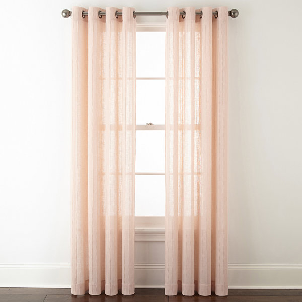 JCPenney Home™ Bayview Pleated Grommet-Top Curtain Panel