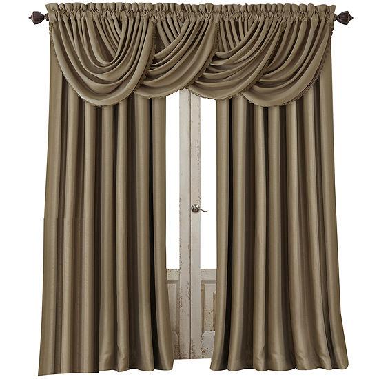 Elrene All Seasons Blackout Rod-Pocket/Back-Tab Single Curtain Panel