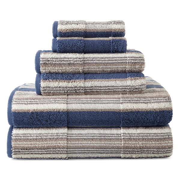 JCPenney Home™ Farmhouse Stripe Bath Towels - JCPenney