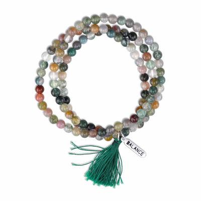 Bridge Jewelry Womens Green Silver Over Brass Wrap Bracelet