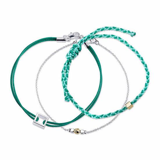 Womens 3-pc. Silver Over Brass Bracelet Set