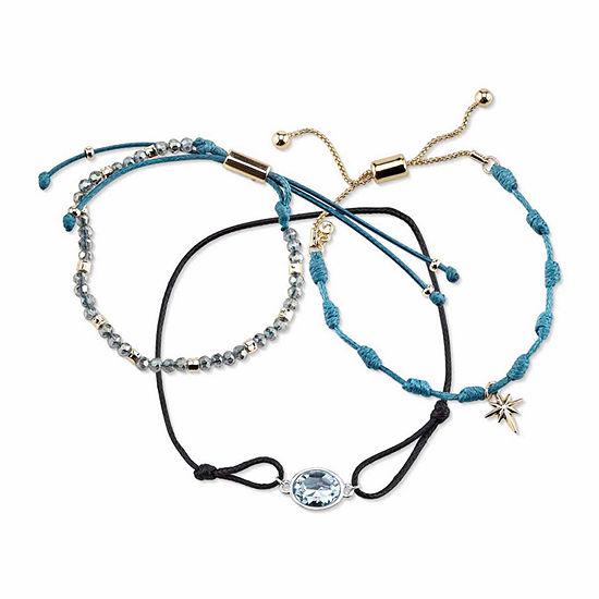 Womens 3-pc. Blue Silver Over Brass Bracelet Set