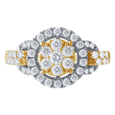 Diamond Blossom Womens 1 CT. T.W. Genuine White Diamond 14K Gold